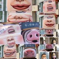 Viso 3D cotone antipolvere bocca del fumetto sveglio del maiale della mascherina di personalità lavabile per le donne M ZWB3