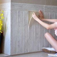 3D Wallpaper autoadesivo Grão de madeira adesivos de parede Soft jardim de infância Paredes decoração da parede de espuma impermeável etiqueta