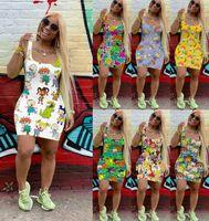 Moda Mulheres Sem Mangas Vestido Verão Designer Mini Saia Uma Peça Vestido de Alta Qualidade Moda Clubwear Vestido Cardigan DHL 2235
