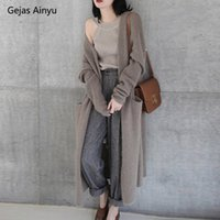 Autumn Winter New Cashmere sweater Coat European style cardi...