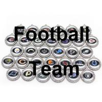Großhandel 32PCS Mix 32 Fußball-Team-Sport-Charme baumeln hängende Charme-DIY Armband Halskette Schmuck Zubehör Amerika Charms