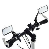 Прочный 2PCS алюминиевый велосипед зеркало MTB велосипедов Регулируемое зеркало заднего Handlebar End Задний Назад Подходит для большинства аксессуаров руль велосипеда