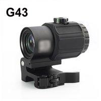 Тактические G43 сфера 3X Magnifier Scope прицел с выключателем на Side STS быстроразъемные QD крепление для охотничьего ружья Gun