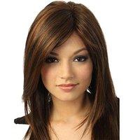Neue Explosion Kopfbedeckungen europäisch und Mischfarbe 22-Zoll-Echthaar lange Haare sdhjher Perücke Amerikaner