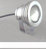 12 вольт 10W светодиодный подводный свет серебряный черный плавательный бассейн лампа открытый водонепроницаемый IP68 теплый белый прохладный белый 12V CE ROSH для сада двор