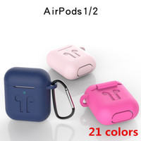 2 in 1 For Apple Airpods 1&2 Cases Silicone upset Protector ...