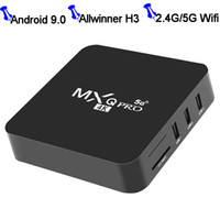 Allwinner H3 MXQ PRO Android 9.0 TV Box Quad Core 1GB / 8GB WiFi 4K 1080p Смарт TVBox 2.G 5G Dual Band Wi-Fi