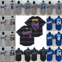 Black Mamba Bryant Los Angeles 8 24 Baseball-Trikots Doppelt genähtes Trikots-Shirt bereit, um hohe Qualität zu versenden