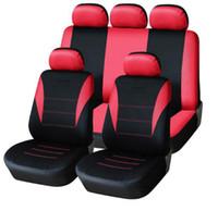 العالمي غطاء مقعد السيارة 9PCS كامل يغطي التجهيزات سيدان السيارات الداخلية اكسسوارات السيارات مناسبة لرعاية حامي F-01
