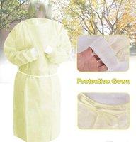 Vestido de protección desechable no tejido a prueba de polvo anti salpicaduras ropa con seguridad vestidos de protección, ropa de trabajo delantales DDA189