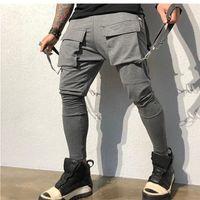 Дизайнер Брюки Весна осенние спортивные штаны мужские 2020 дизайнерская одежда для одежды HIP-хоп большие карманные повседневные спортивные брюки мужчины мода инструмента