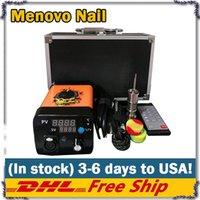 Menovo électrique Titainium Dab Nails Pen Oil Rig Wax tamponnant PID TC boîte avec Domeless Coil Heaer Dnail Kit Pad en silicone