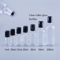 Hot Spot Refillable 100 мл 50 мл 30 мл 20 мл 15 мл 10 мл 5мл Прозрачное стекло Шариковый Бутылки для лица с металлической роллер
