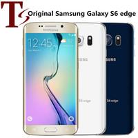 Remodelado Original Samsung Galaxy S6 Edge G925F G925A G925V G925T G925V G925T 5.1 polegada OCTA CORE 3GB RAM 32GB ROM 16.0MP 4G LTE Telefone inteligente