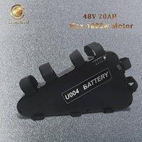 Triangle 48V 20AH Ebike batterie avec interrupteur d'alimentation, USB, niveau de lumière, Fit cellulaire NCR pour le moteur Bafang TSDZ2 1800w 1000w