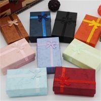 Joyería arco collar de la caja del anillo pendientes del papel de regalo de embalaje cajas de joyas pulsera preciosa embalaje almacenamiento barato 0 48zk H1