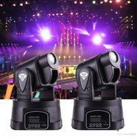 미니 LED 이동 헤드 라이트 스폿 RGB 무대 조명 파티 DJ 디스코 클럽 15W RGB 여러 가지 빛깔의 변경 DMX 컨트롤러 스팟 워시 라이트