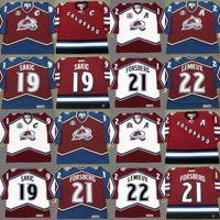 Colorado Avalanche Joe Sakic Peter Forsberg Claude Lemieux Milan Hejduk SCOTT PARKER Patrick Roy Chris Drury Eishockey Trikots