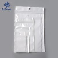 Nouvelle arrivée multi Tailles Blanc / Clair Self Seal Fermeture à glissière en plastique Accrocher Trou d'emballage d'emballage au détail Sac Poly Paquet
