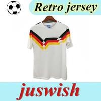 월드컵 1990 독일 레트로 저지 Littbarski 발락 축구 유니폼 Klinsmann Matthias 1990 셔츠 Kalkbrenner Jersey 1990