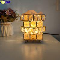 de Fumat Cristal Rubik para o partido Iluminação Cube sal do Himalaia abajur Home Decor Night Light G9 LED criativa Holiday Gift New