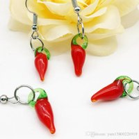 Top Fashion Rushed Frauen Pendientes Mujer Brincos Oorbellen 20 Paar Chili baumeln Murano Lampwork Ohrringe Mode