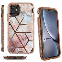 3in1 design Marble 360 ​​Housse de protection anti-choc Heavy Duty Full Body Téléphone pour iPhone 6 7 8plus x Xr 11 11Pro 12 12 mini