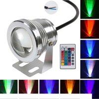 Brelong LED水中ライト12V、10W RGBの投光照明色変更水中プールライト、ダイビングライト噴水の魚タンクライト1個