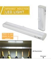 6/10 светодиодов PIR светодиодный датчик движения светильник шкаф для шкафа кровать лампа света под шкаф ночной свет для шкафа лестницы кухни