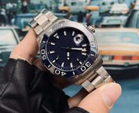 43 мм хорошая распродажа черные мужские часы автоматические механические стальные корпус серебро нержавеющий ремешок складной пряжки моды wriwatch