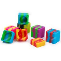 11ml square silicone container non-stick silicone jar dabs FDA silicone Box for wax container30mmX30mm DHL free