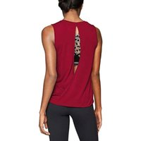 Women Breathable Fitness Sports Shirt Ladies Sleeveless Yoga...