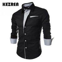 Vestido para hombres Camisas Kezrea 2021 Casual Camisa Casual Rayas de moda de alta calidad Color surtido Estilo Slim Men Manga larga