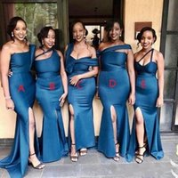 2020 Mermaid Bridesmaid Dresses South Afrian Maid of Honor G...
