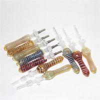 Coletor de néctar de vidro de fumar com 10mm Dicas de quartzo Keck clipe Reclaimer Ashcatcher