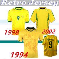 1994 1998 2002 Brasiliing Retro Jerseys Rivaldo 빈티지 셔츠 Carlos Romario Ronaldo Ronaldinho 94 98 02 축구 유니폼 Camisa de Futebol