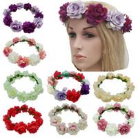 Saç Hoop Yapay Çiçekler Hearband Düğün Gelin Çiçek Taç Bohemya Emalation Plaj Çiçek Kadınlar Aestheticism Saç Hoop LSK295