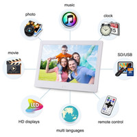10INCH إطارات الصور الرقمية شاشة LED التحكم عن بعد الموسيقى والفيديو إطار الصورة 10 بوصة عرض التقويم على مدار الساعة