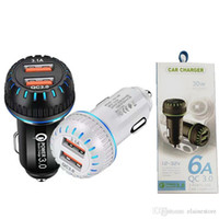 2020 Quick Car Charger Mobile Phone 6.1aA Dual USB QC3.0 Fast Smart Charging adapter For samsung Android Smartphone With Retail Package
