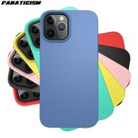 Buğday Straw Şeker Renk Kılıf iPhone 12 Pro Max 12mini 12pro iphone12 Darbeye Yumuşak Silikon Çevre dostu Arka Kapak