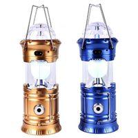 Портативные фонарики многофункциональные светодиодные красочные солнечные лампы палатки Кемпинг Открытый натяжной ночной свет аварийный ланте