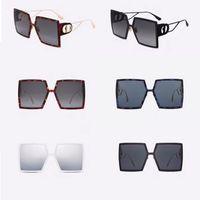 Diseñador de sexo femenino gafas de sol de gran tamaño 30MONTAIGNE personalidad damas marco gafas de sol de marco cuadrado templos metal de la manera vidrios de calidad superior