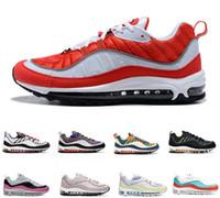 Max 98 뜨거운 판매 98 남성 여성 신발 건담 체육관 레드 간신히 화이트 98S 배 블랙 오일 그레이 팀 야외 신발 운동화 스포츠 운동화를 실행