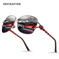 HDCRAFTER Oversized Sunglasses for Women Polarized Vintage Retro Driving Sunglasses Gradient Ladies sun glasses uv400
