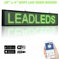2020 뜨거운 새로운 20 x 4 Yingcun WiFi LED 스크롤 메시지 서명 디스플레이 보드 (녹색 LED)