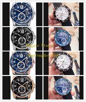 La meilleure qualité Calibre De cadran noir 42mm Steel Roman W7100056 W2CA0004 WSCA0011 bracelet en caoutchouc automatique Mode Montres Homme Montres-bracelets