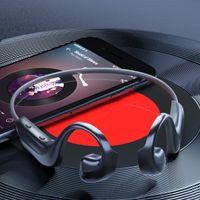 골전도 블루투스 헤드셋 IP68 방수 무선 헤드폰 HIFI 오디오 이어폰 BLU 5.1 G100 새로운 굽힘 360도