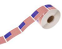 250pcs / roll Rechteck-Sealing-Aufkleber Practical USA Flagge Muster-Aufkleber-Auto-Abziehbild-Ausgangsverzierungs für Heim Auto