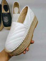 4 цвета Мода Дизайнер Женская Обувь Женская Удобная платформа эспадрильи обувь Дизайнер эспадрильи Высота каблука 5,5 см Размер 35-40
