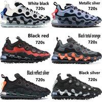 Yeni varış beyaz siyah koşu ayakkabıları eleman 720S erkekler kadınlar metalik gümüş toplam turuncu açık erkek eğitmenler spor ayakkabıları kırmızı yansıtmak tepki